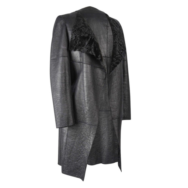 Christian Dior Coat Black Persian Lamb Shearling Reversible 6