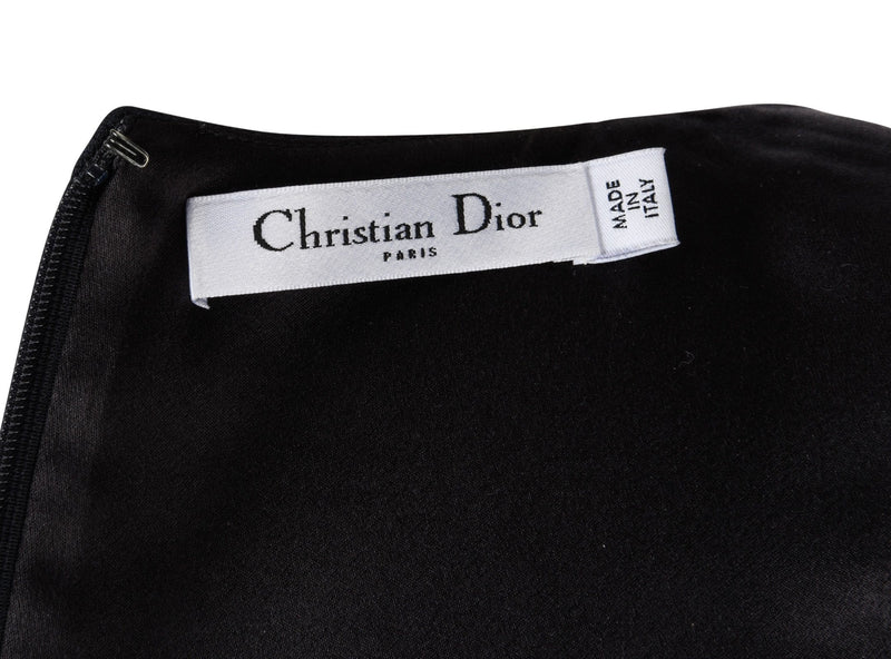 Christian Dior Top Black Sleeveless Jeweled Shoulder 6 - mightychic