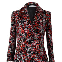Christian Dior Coat Double Breast Multicolor Tweed fits 6 - mightychic
