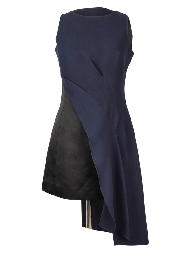 Christian Dior Dress Asymmetrical Black / Navy Evening fits 6 - mightychic