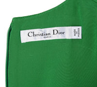 Christian Dior Top Emerald Green Sleeveless Shaped and Fitted fits 8 - mightychic