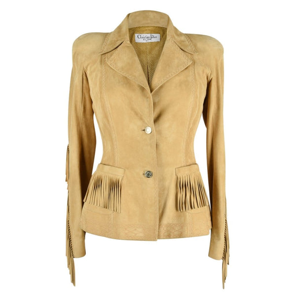 Christian Dior Jacket Shaped Divine Fringe Subtle Embroidery Detail 38 / 4