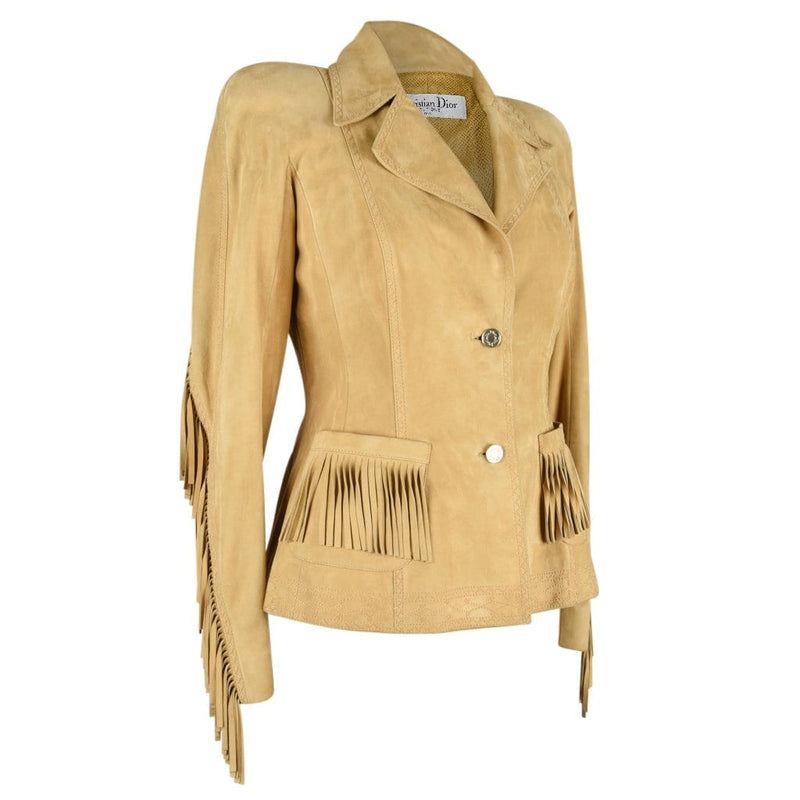 Christian Dior Jacket Shaped Divine Fringe Subtle Embroidery Detail 38 / 4 - mightychic