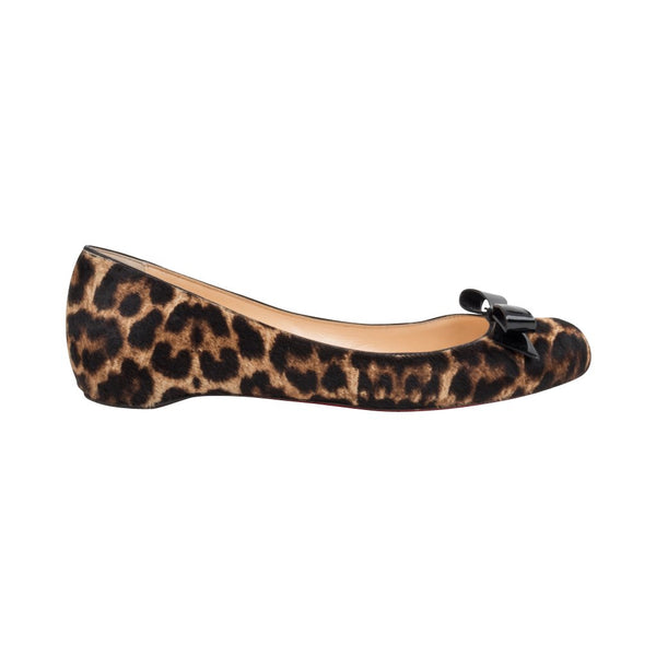 Christian Louboutin Shoe Ballet Flat Leopard Print 39 / 9 - mightychic