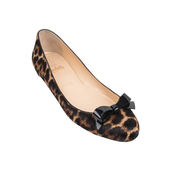 on sale 58c1e 48cd3 Christian Louboutin Shoe Ballet Flat Leopard Print 39 / 9