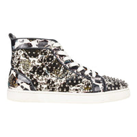 Christian Louboutin Men's Louis Flat Patent Carr Spikes High Top Sneaker 42.5 / 9.5 - mightychic