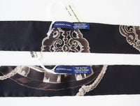 Hermes Twilly Silk Scarf Les Cles Rare Set Black Taupe and Bone - mightychic