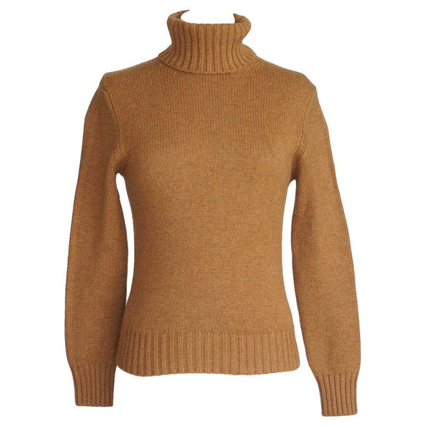 Loro Piana Sweater Camel Cashmere Turtleneck 42 / 6