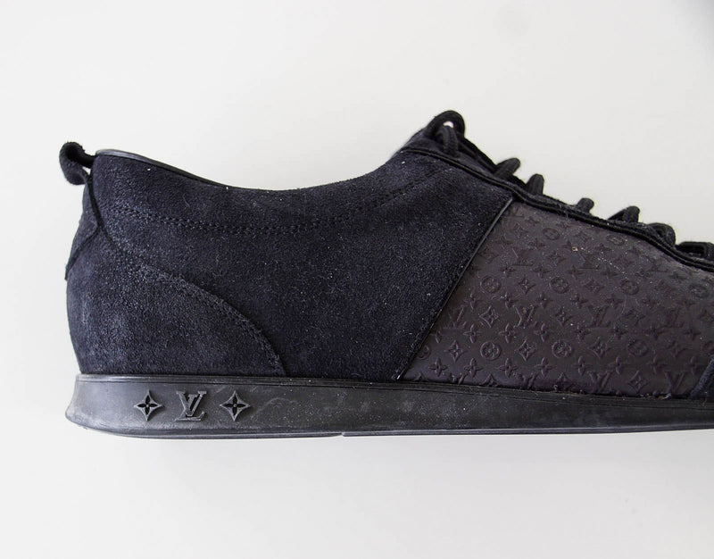 Louis Vuitton Sneaker Monogram Leather Black Suede 39 / 9 - mightychic