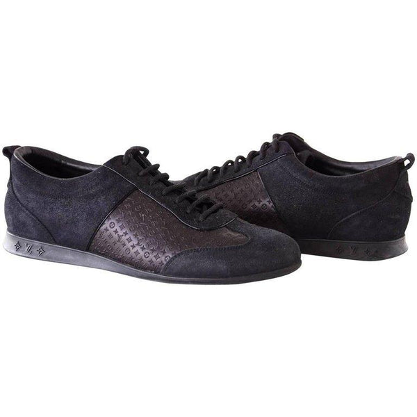 Louis Vuitton Sneaker Monogram Leather Black Suede 39 / 9