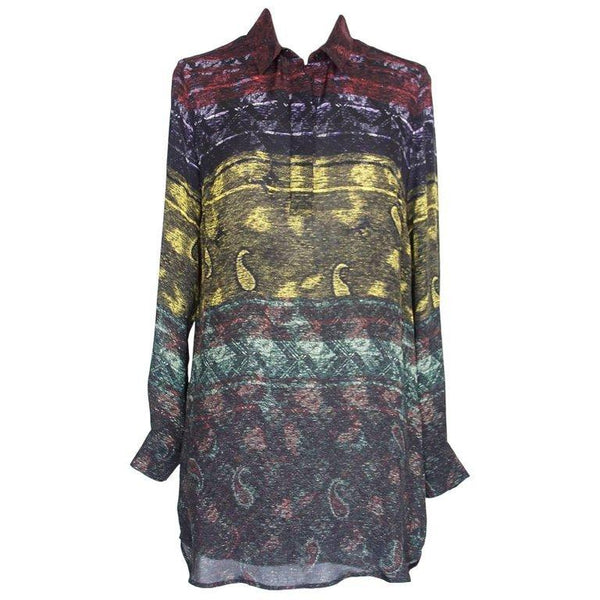 Mary Katrantzou Top Silk Tunic Paisley Design XS