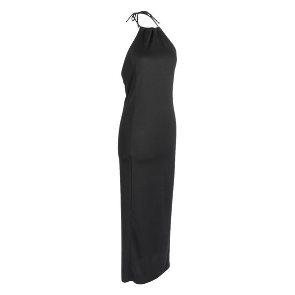 Costume National Dress Long Sleek Modern Halter Vintage 40 / 6
