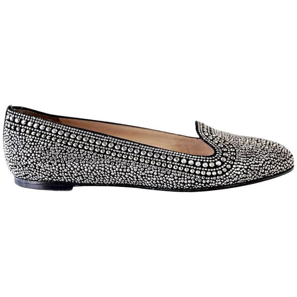 ad0ce5a53 Valentino Shoe Black and Silver Studded Flat 38.5 / 8.5