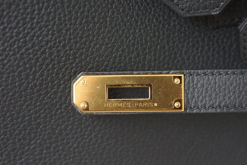Hermes Birkin 30 Bag Plomb New Colour Off Black Togo Gold Hardware - mightychic