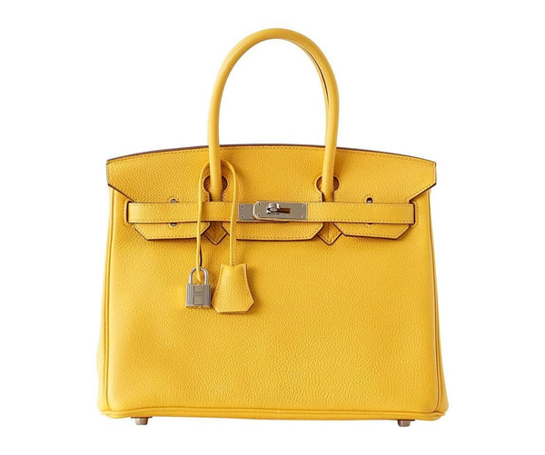 Hermes Birkin 30 Bag Soleil Sun Yellow Togo Palladium Hardware