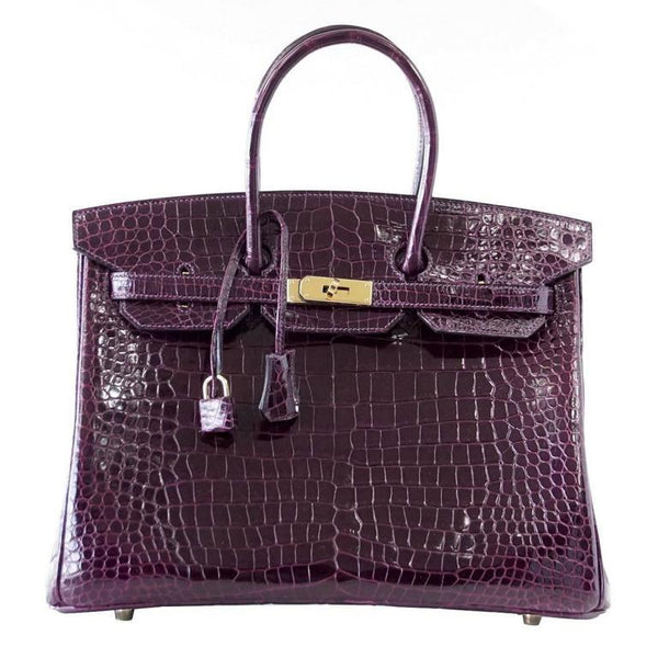 Hermes Birkin 35 Purple crocodile