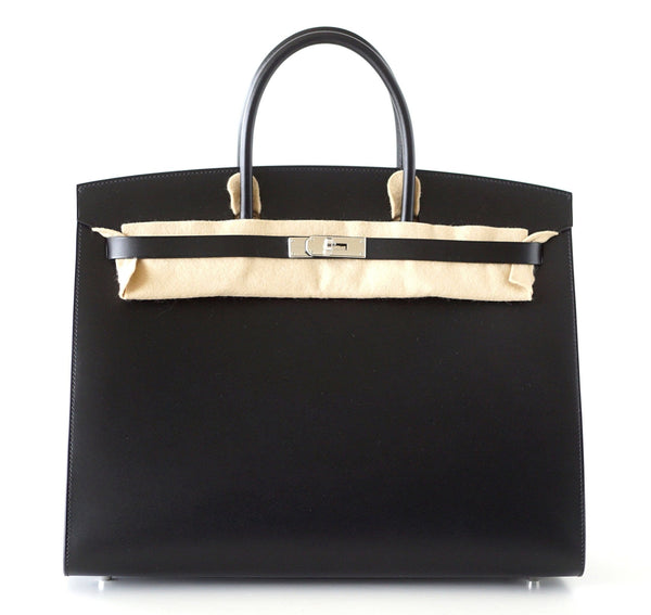 Hermes Birkin 40 Bag Sellier  Black Vache Hunter/ Veau Evercalf Limited Edition