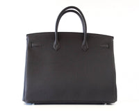 Hermes Birkin 40 Bag Rich Matte Black Togo Palladium Hardware - mightychic