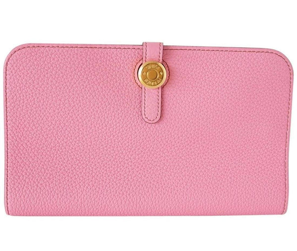 Hermes Dogon Wallet Coveted 5P PINK GM Long Togo Gold Hardware