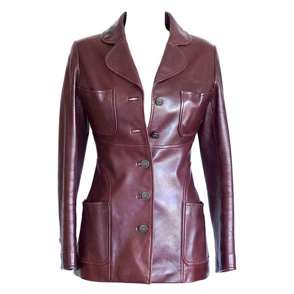 Chanel 97A Jacket Cordovan Lambskin Superb Details 38 / 6