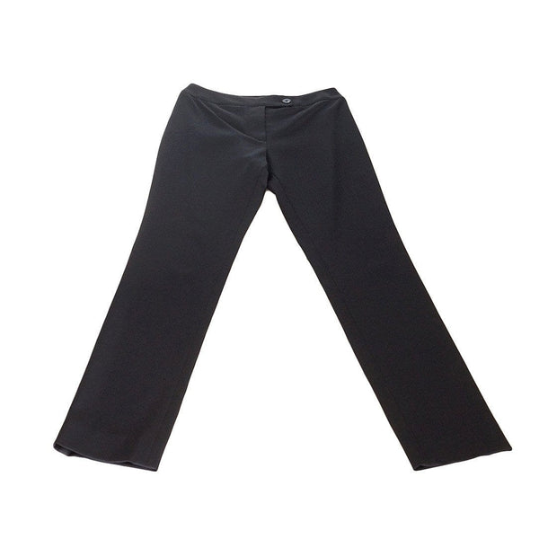 Chanel 01A Pant Sleek Slim Black Silk 36 / 4  nwt