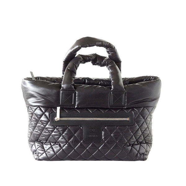 def5890b86a6 Chanel Bag Coco Cocoon Black Tote Limited Edition New