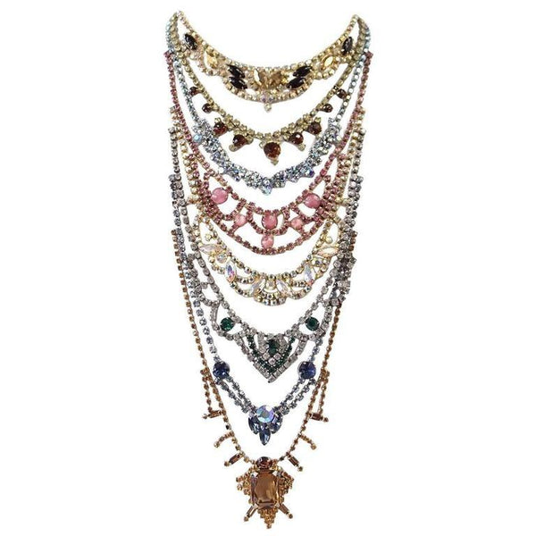 Erickson Beamon Necklace Vintage Stones Baroque Creation SO Striking - mightychic