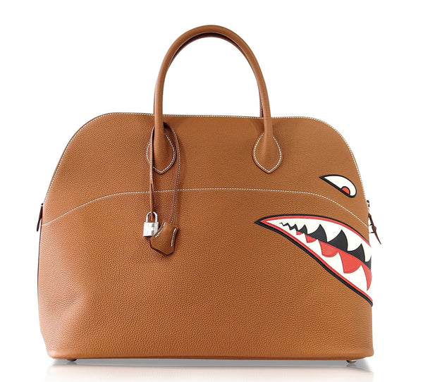 Hermes Bolide 40 Bag Men's Runway Unisex Very Rare Limited Edition Monster Shark Bolide