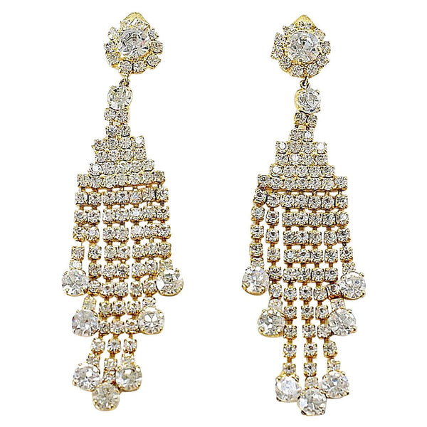 Dolce&Gabbana Earrings $1,900 Motocross Collection Dramatic Diamante Clip On Earrings