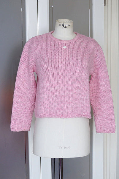 Sweater soft pink classic vintage  SO pretty M