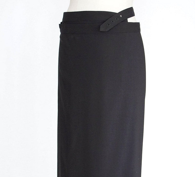 Jean Paul Gaultier Skirt Vintage Black Wrap 42 / 8 Fits 6 - mightychic