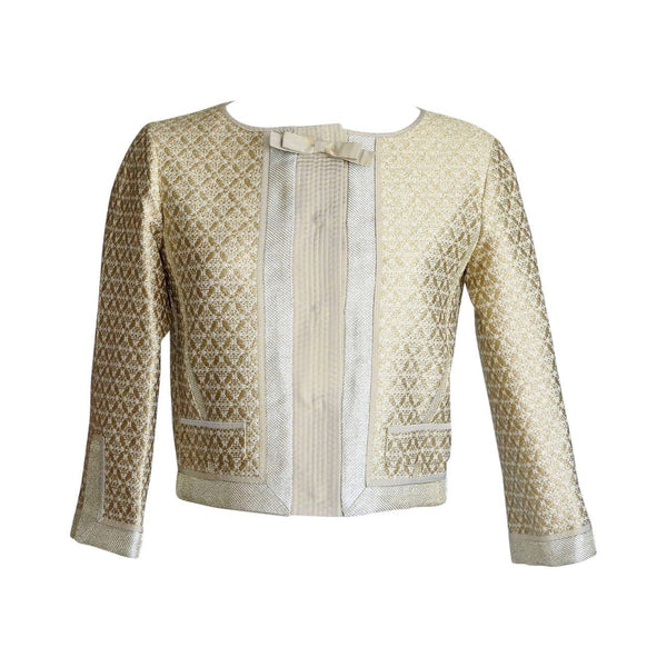 Louis Vuitton Jacket Gold Brocade Exquisite Details 34 / 4 - mightychic