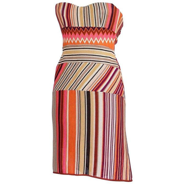 Missoni Dress Strapless Stunning Knit Rear Fishtail 42 / 6 nwt