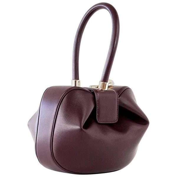 Gabriela Hearst Nina Bag Bordeaux Calf Leather Limited Edition Rare - mightychic