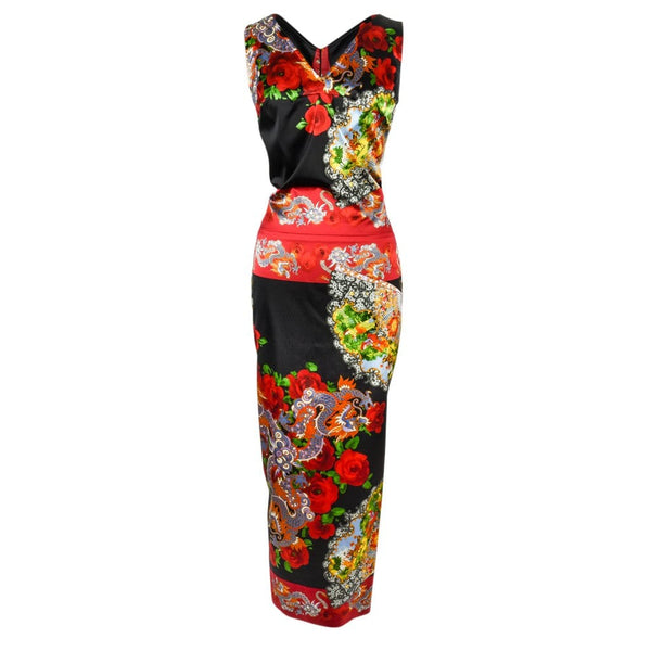 Dolce&Gabbana Collectors Dress Asian Print Rear Detail 40 / 4 - mightychic