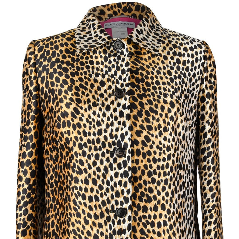 Dolce&Gabbana Coat Cheetah Print Spring Jacket 40 / 6 Mint