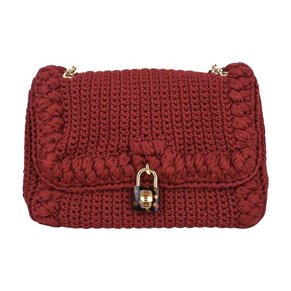 Dolce&Gabbana Bag Jewel Toned Lush Crochet Snakeskin Handle