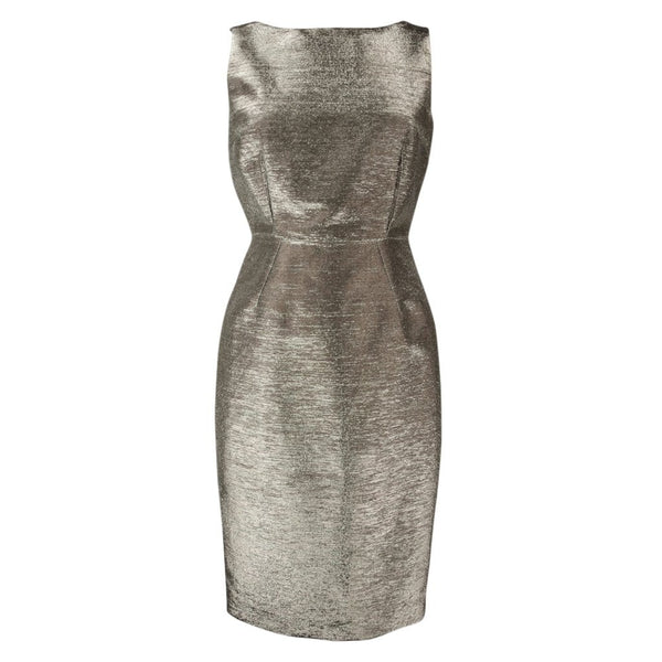 Dolce&Gabbana Dress Striking Silver Rear Swarovski Zipper Pull 40 / 6 - mightychic