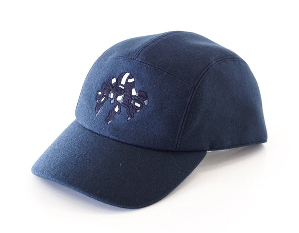 Hermes Men's Hat Cashmere Spider Robot Limited Edition Navy Cap