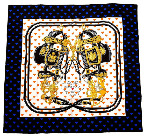 Hermes Scarf Brides de Gala Love 90 cm Silk Limited Edition Carre New w/ Box