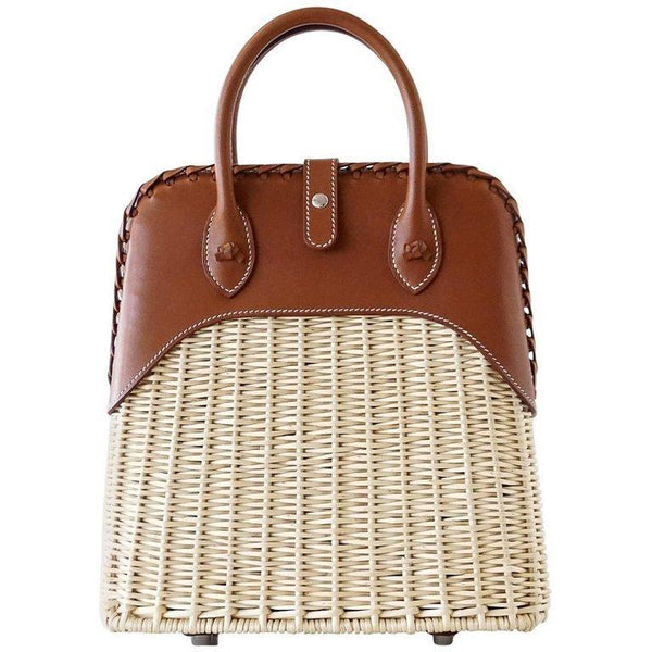Hermes Bolide Picnic Bag Osier Wicker Barenia Limited Edition