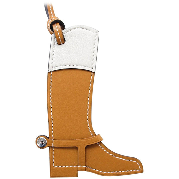 6c1749f78cf2 ... Hermes Paddock Botte Equestrian Boot Sable and Craie Bag Charm -  mightychic ...