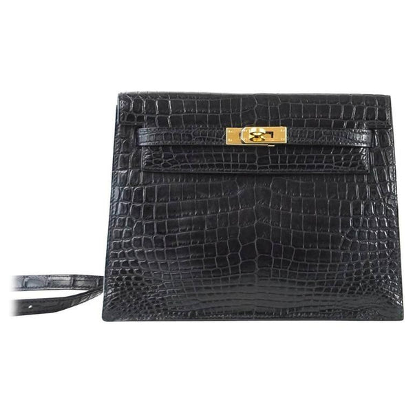 Hermes Kelly Danse Bag Matte Black Crocodile Rare Limited Edition