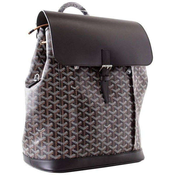 Goyard Alpin Backpack Bag Men's Black Chevron and Calfskin - mightychic