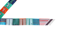Hermes Twilly Couvertures Nouvelles Set of 2 Multi Colour Red Blues Greens - mightychic