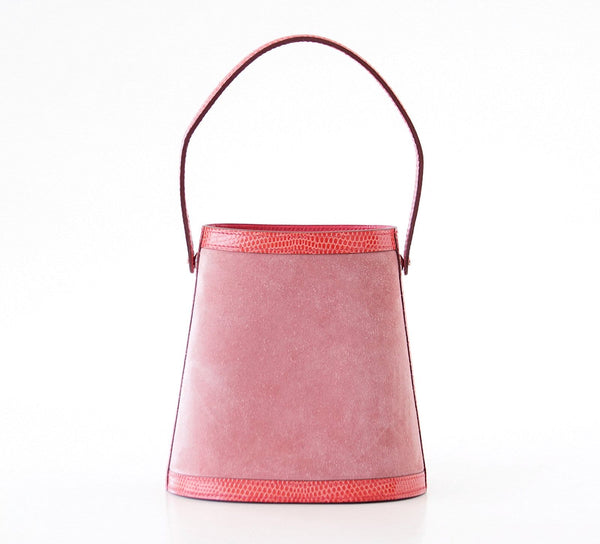 Hermes Stromboli Bag Rose Indienne Doblis Rose Azalee Lizard Sterling Silver Lid - mightychic