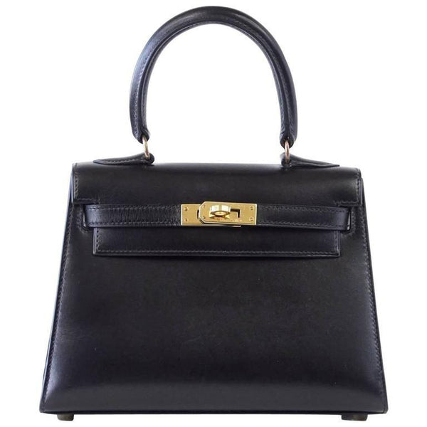 2366c074288 ... Hermes Kelly 20 Bag Mini Vintage Kelly Sellier Box Leather Gold Hardware  - mightychic ...