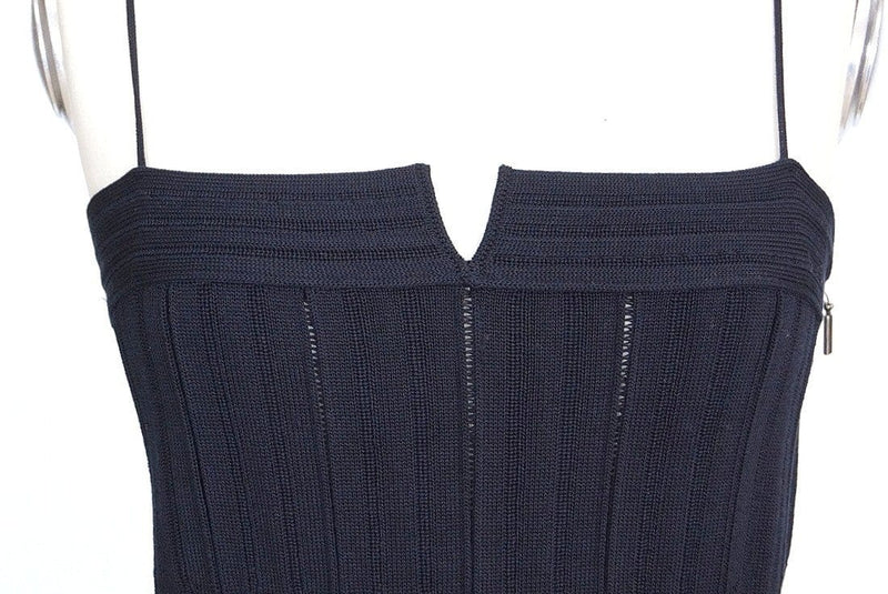 Giorgio Armani Top Fitted Black Knit 46 Fits 8 to 10  nwt - mightychic