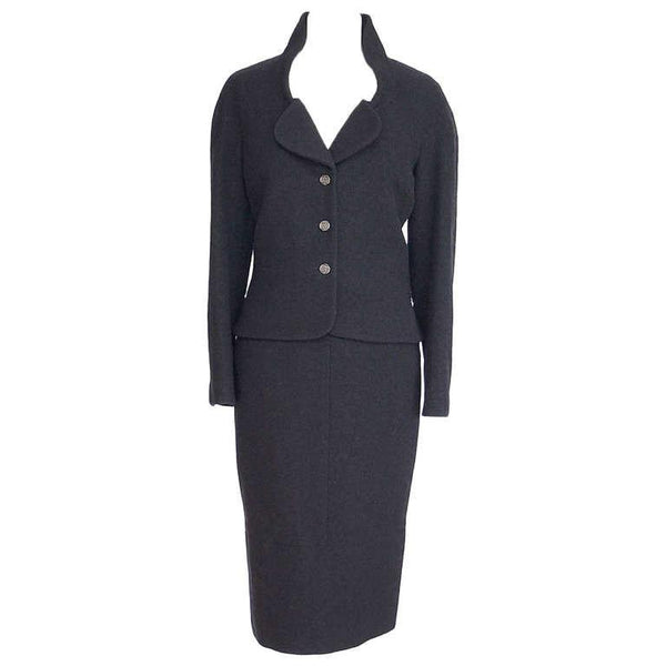 Chanel 12C Skirt Suit Exquisite Shaping Jet Black 44 /10  nwt