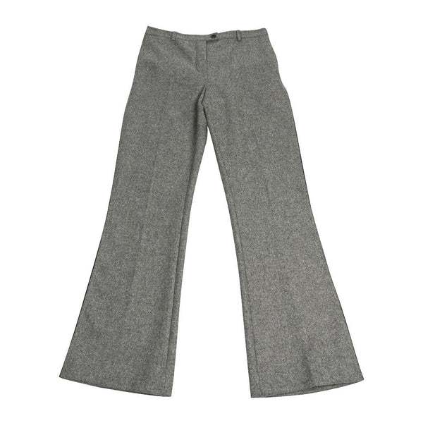 Fendi Pant Gray Wool w/ Black Lace Insets 40 / 6 New
